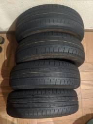Título do anúncio: Vendo 4 pneus Bridgestone aro 14