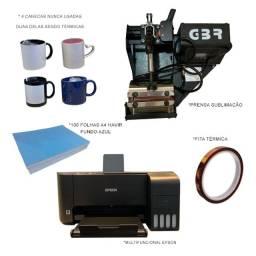 Título do anúncio: kit prensa sublimadora  + multifuncional epson ecotank l3110, colorida, bivolt
