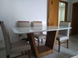 Título do anúncio: Mesa seis lugares nova completa madeira e acabamento laka luxo