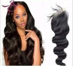 Usado, Top Closure Com Baby Hair Prótese Capilar Feminina 35cm comprar usado  Rio de Janeiro