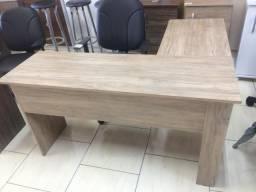 Mesa em L Escritório Nova