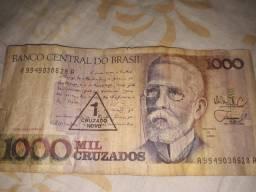 Vendo uma nota de mil cruzados por 300 reais Moru no p norte