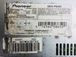 Traseira cd pioneer deh-p640 para tirar peças só 60,00