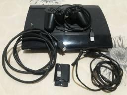 Playstation 3 Com 12 Jogos e 1 Controle