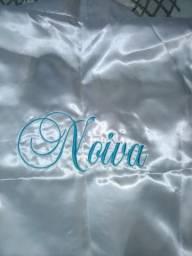 Roupão de seda para noiva