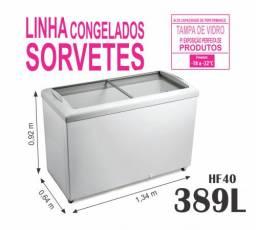 Freezer Tampas de Vidro Sorvetes Açai Metalfrio