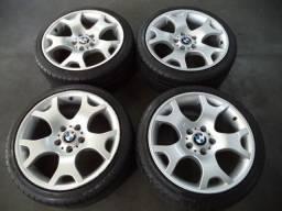 Rodas 18 bmw x5 5x120 serie 3 e serie 1 x1 c/pneus bmw