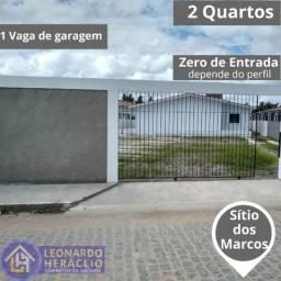 Casa de 2 Quartos podendo ser sem entrada