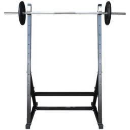 Cavalete para Agachamento + Barra 1,80 + 20 Kg - Kit Musculação Agachamento Academia