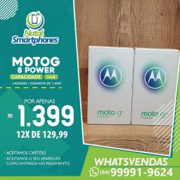 Motorola Moto G8 POWER ( 64GB - 4GB RAM ) LACRADO+NOTA FISCAL *( PRETO/AZUL )*
