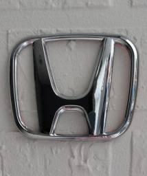 Emblema dianteiro para grade da linha Honda Civic e New Fit - Simbolo H