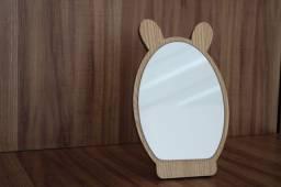Espelho de mesa formato urso