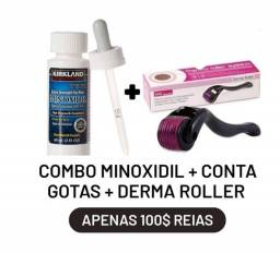 Minoxidil + Dermaroller (Microagulhamento) combo