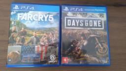 Vendo Days Gone e Far Cry 5