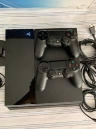 PlayStation 4 + controle extra + base carregadora