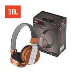 Fone Ouvido Jbl Bluetooth Jb55 Metal Super Bass Cartão SD Mp3 Rádio Headphone Wireless