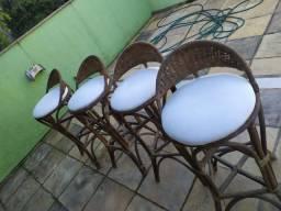 Banquetas - 4 unidades
