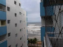 Apartamento 1 quarto para locação temporada, prédio frente ao mar - Mongaguá SP