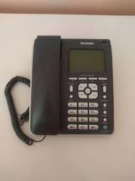 Telefone com fio e identificador de chamadas