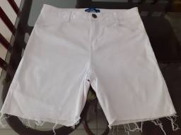 Bermuda branca feminina tamanho 40