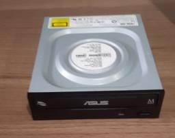 Drive Asus Gravador e Leitor de CD/DVD, SATA, 24X, Preto