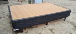 Título do anúncio: Base cama box preta - ENTREGO