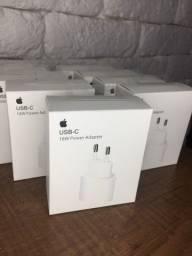 Carregador iPhone 11, iPhone 12, iPhone XR - 18W Original + NF