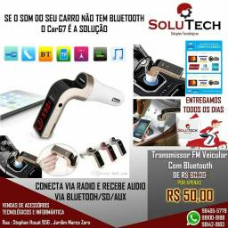 Transmissor Veicular Bluetooth Fm Carg7 Com pra carro
