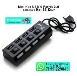 Mini Hub USB 4 Portas 2.0 extensor Hb-t63 Knup