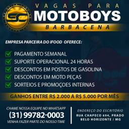 Título do anúncio: Vagas para Motoboys e Motogrils