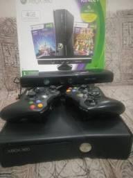 Xbox 360 completo 2 Controles  kinect