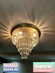 Lustre dourado,  lindo d + R$550,00