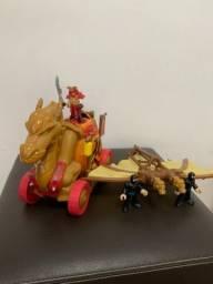 Imaginext Ninja Samurai Dragão + Ninja Ataque