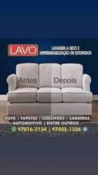 Título do anúncio: lv lavagem à seco, Higienização de sofá, limpeza de sofá e impermeabilização de sofá