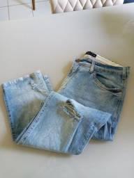 Calça slim masculina / TAM 46 / nunca usada