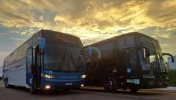 Ônibus turismo, fretamento, excursão