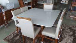 Título do anúncio: Sala de jantar nova mesa quadrada pintura laka e madeira