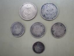 Lote de Moedas de Bronze de 10, 20 e de 40 Réis