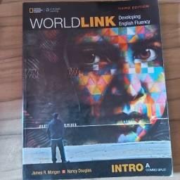 Livro World link Intro A 3rd-Livro usado com escritos de lápis apagado