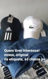 Boné Lacoste e Adidas original