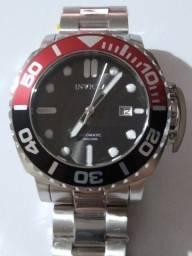 Invicta Automatic Aço Red/Black Bezel