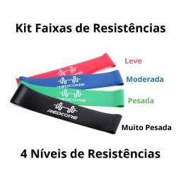 Kit 5 Faixas Elásticas Thera Band Exercícios Em Casa Fitness