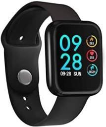 Relógio Inteligente Smartwatch P70 - Pulseira de alumínio + pulseira de silicone.