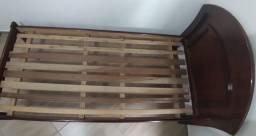cama de solteiro de madeira (magno)