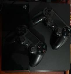 PS4 2 manetes e jogos - passo cartao (fat)