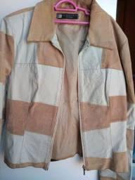 Linda jaqueta de couro Tam M