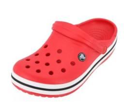 Crocs Crocband Vermelho com listra Preta - Original