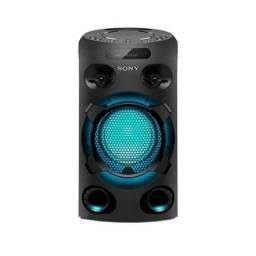 Mini System Torre Sony MHC-V02 com Bluetooth e HDMI Preto.