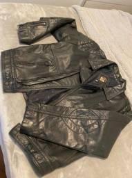 Jaqueta couro legítimo motociclista - 54