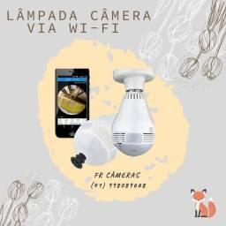 Câmera IP de segurança via Wi-Fi / lampada / discreta / garantia